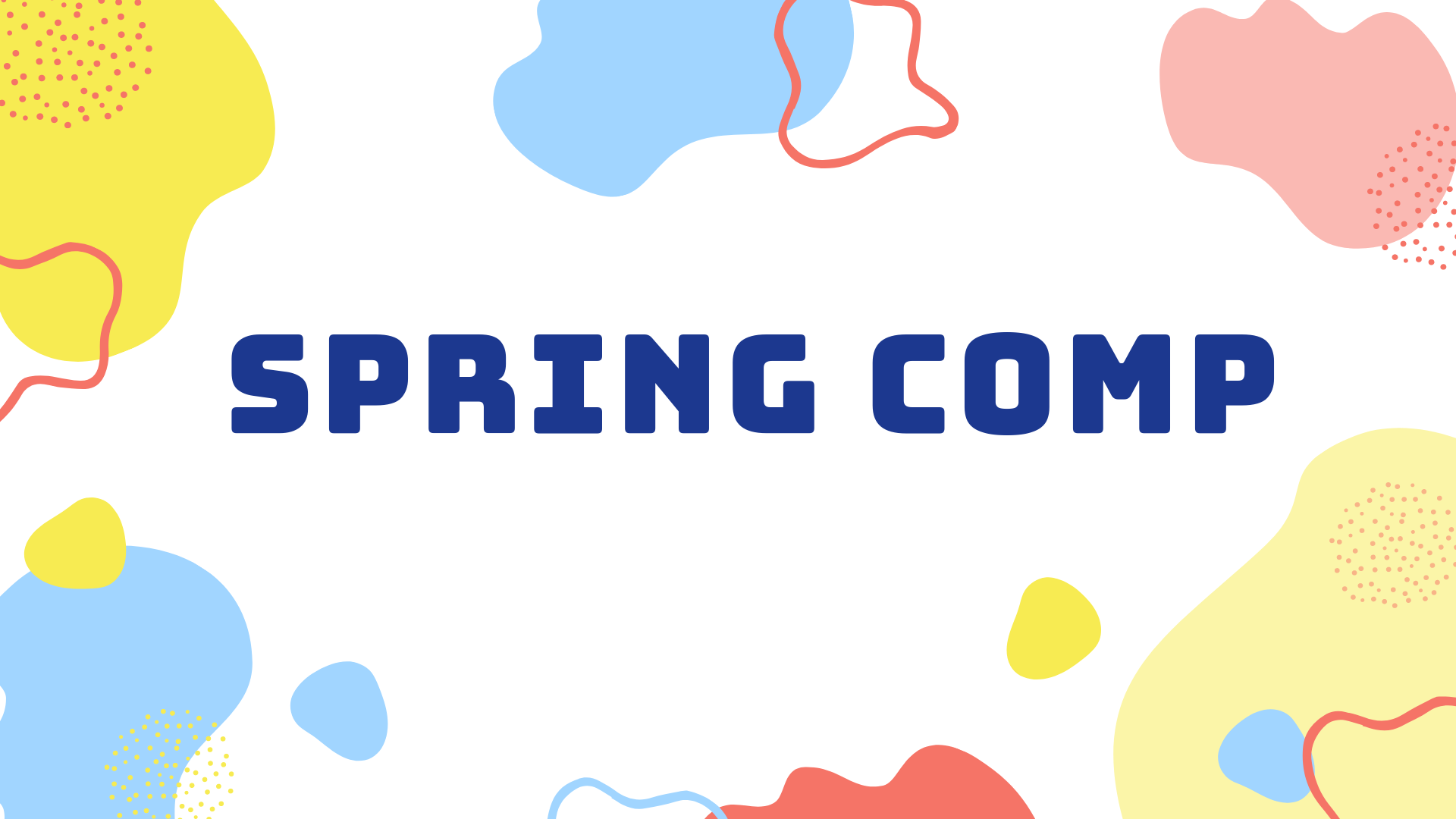 Spring Comp Rego is now CLOSED